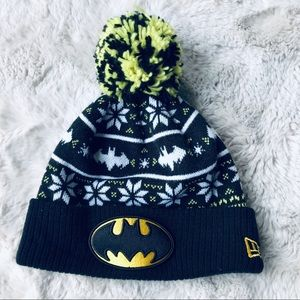 New Era Batman Beanie Pom Pom